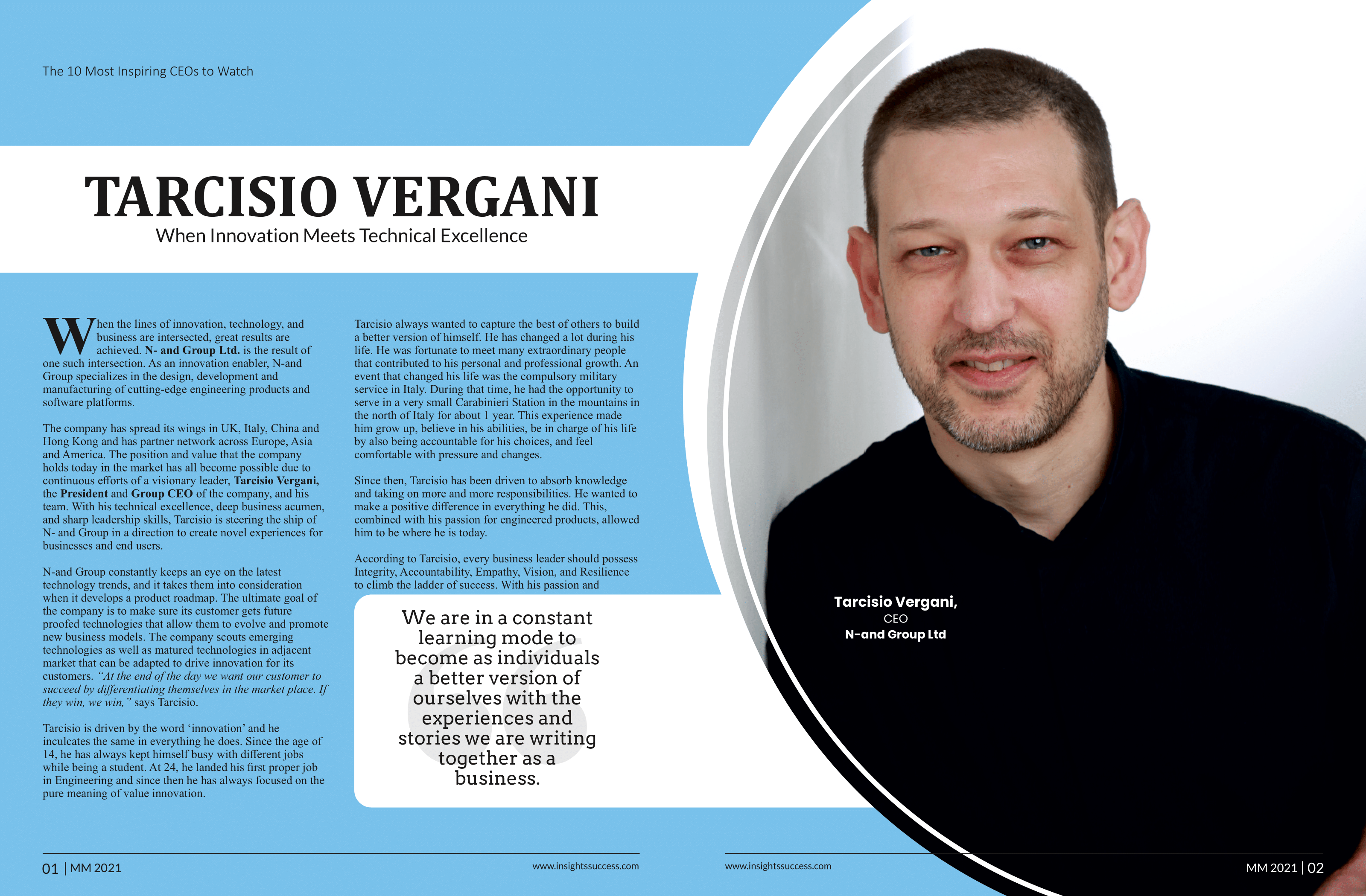 Tarcisio Vergani 10 Most Inspiring CEOs to watch-1